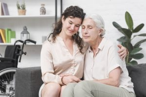 family caregiver at work