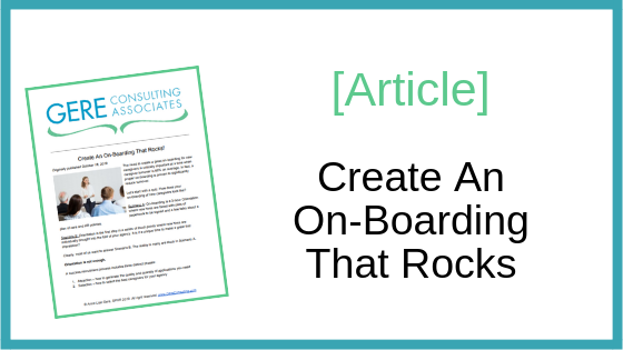 Article: Create an on-boarding that rocks
