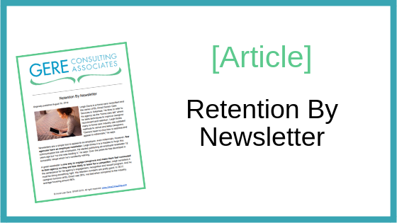 Article: Retention by newsletter