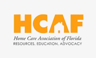 HCAF logo. Home Care Association of Florida. Resources. Education. Advocacy.