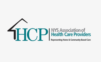 HCP NYS Association of Health Care Providers logo. Representing Home & Community-Based Care.