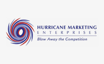 Hurricane Marketing Enterprises logo. Blow Away the Competition.