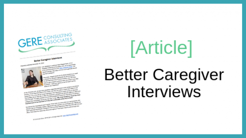 Article: Better caregiver interviews