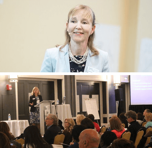 Anne-Lise Gere speaking at two events